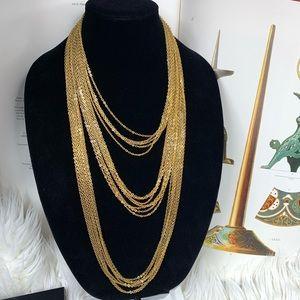 Vintage Trifari  gold tone statement necklace